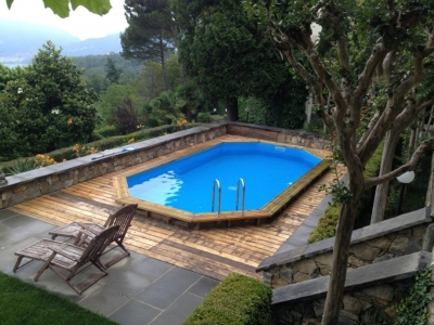 Fuoriterra in legno for Accessori per piscine esterne